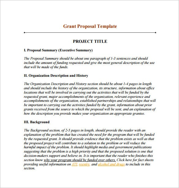 Funding Proposal Template   Free Word Excel Pdf Format
