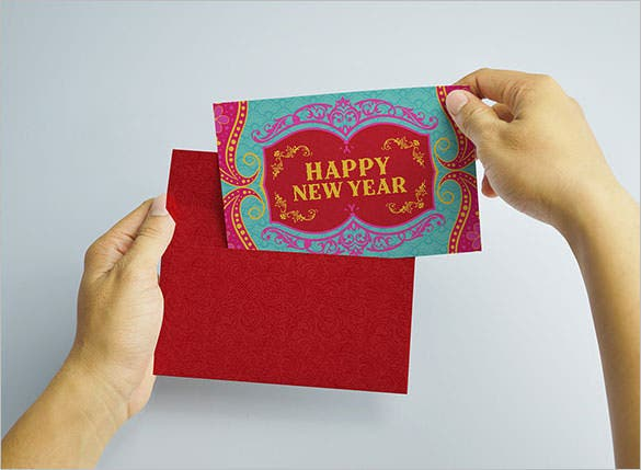 graphic design new year holiday card template illustration