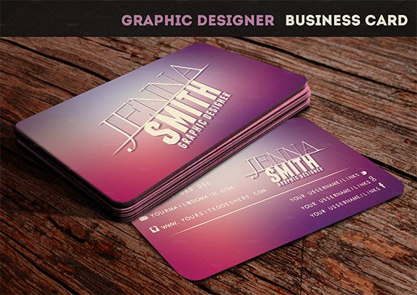 graphic designer visiting card template