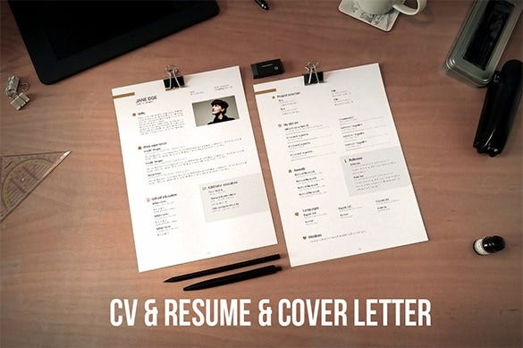great cv and cover letter illustrator