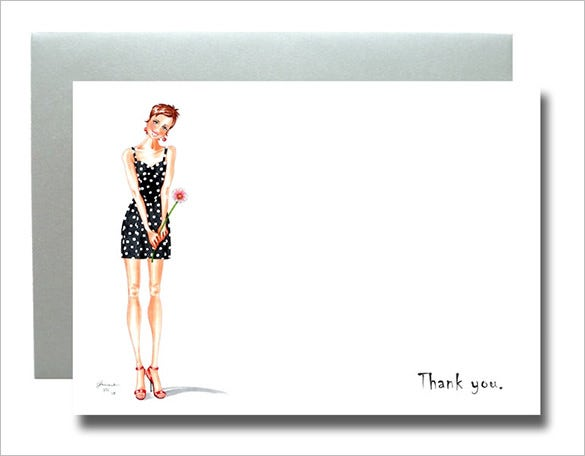 great fashion thank you card