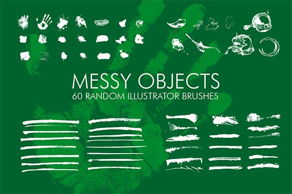 great messy illustrator brushes