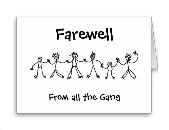 Farewell Card Template - 25+ Free Printable Word, Pdf, Psd, Eps