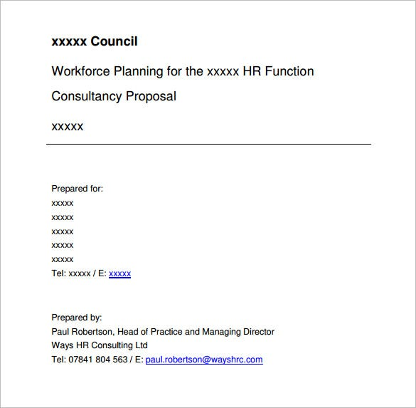 Consulting Proposal Template   Free Word Excel Pdf Format