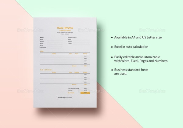 hvac invoice template1