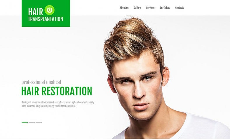 Hair Transplant Clinic HTML5CSS3 Website Template