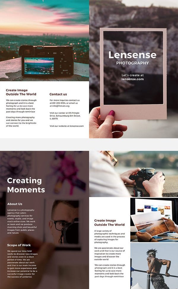 Half Fold Brochure Templates Free PSD EPS AI InDesign - Create free brochure templates