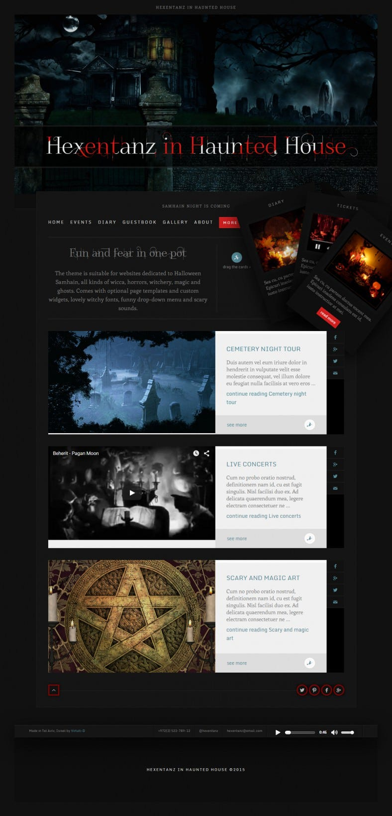 5  halloween website themes  u0026 templates