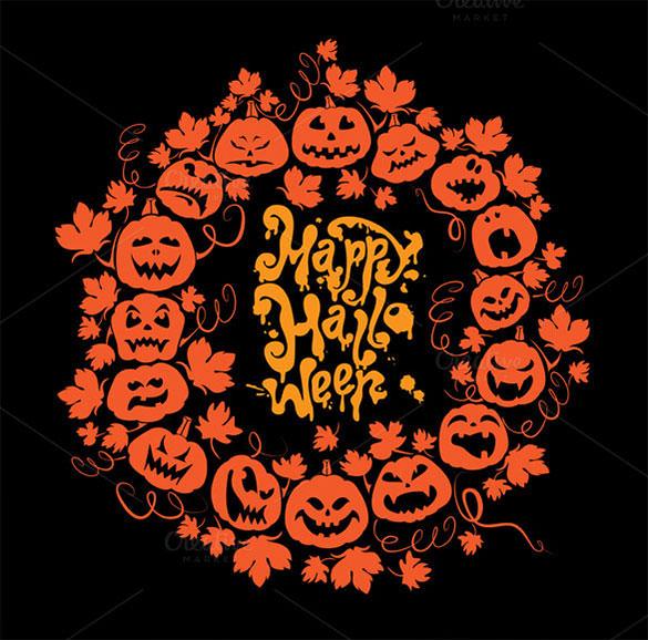 halloween holiday card eps template