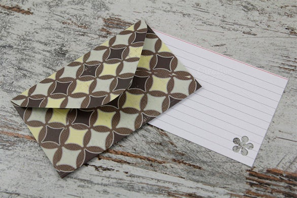 hand made gift card envelope