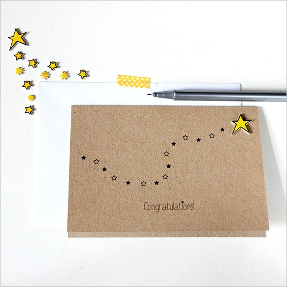 handmade congratulations card sample