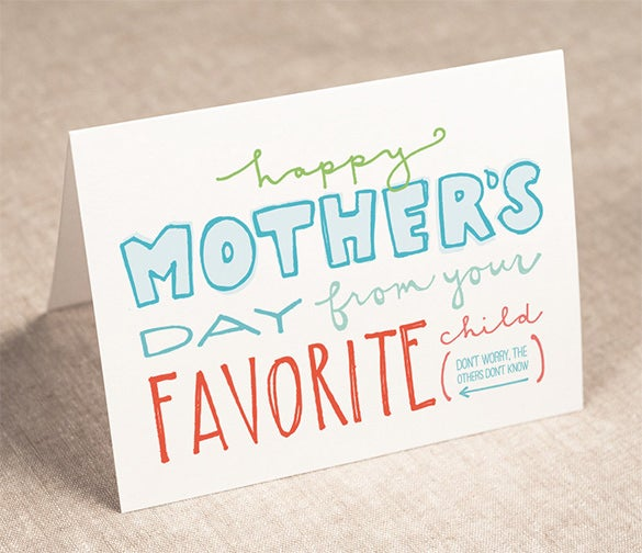 handmade mothers day card template 4