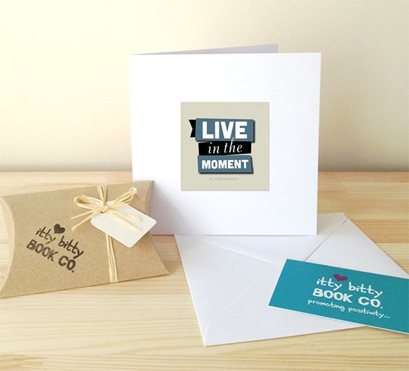 handmade paper greeting gift card example