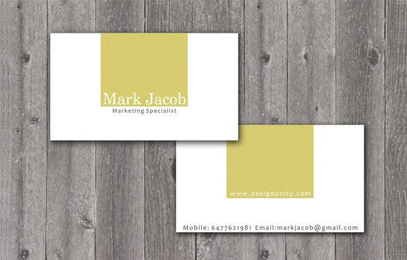 handmade visiting card template