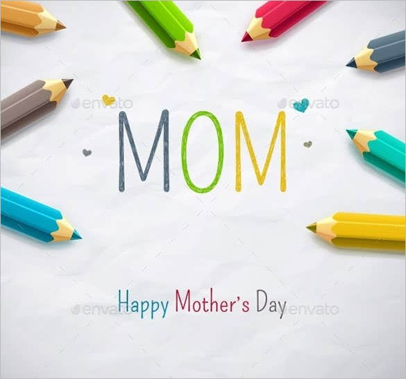 happy mothers day card eps template