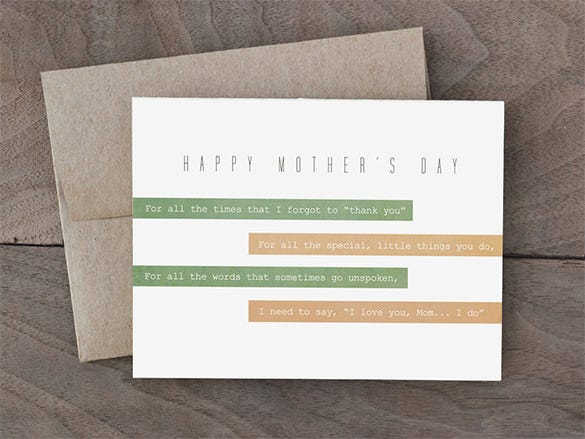 happy mothers day card green collection