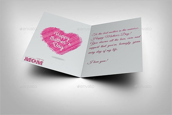 Mothers Day Card Template   Free Printable Word Pdf Psd Eps