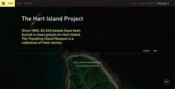 hart island flat design website