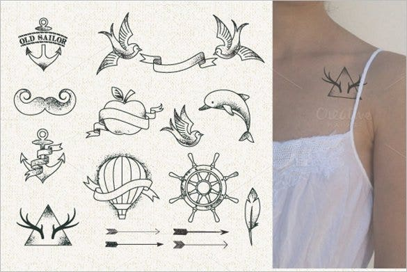 hipster style tattoo illustration1