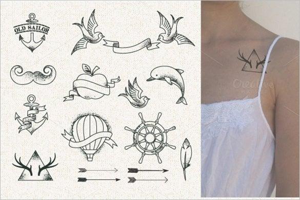 hipster style tattoo illustration1