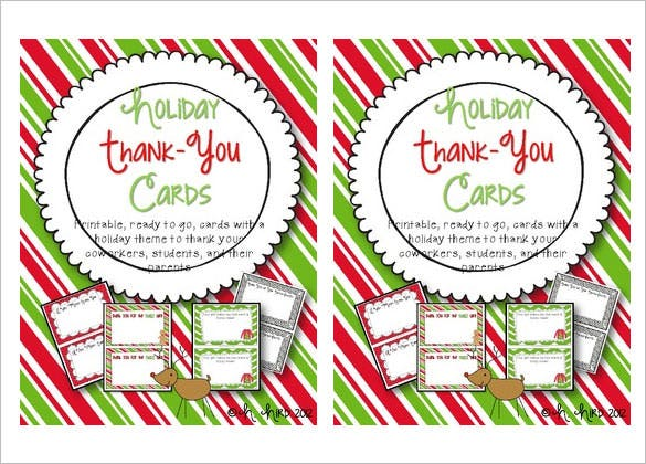 photo relating to Christmas Thank You Cards Printable Free identify 15+ Family vacation Thank By yourself Playing cards Totally free Printable PSD, PDF, EPS