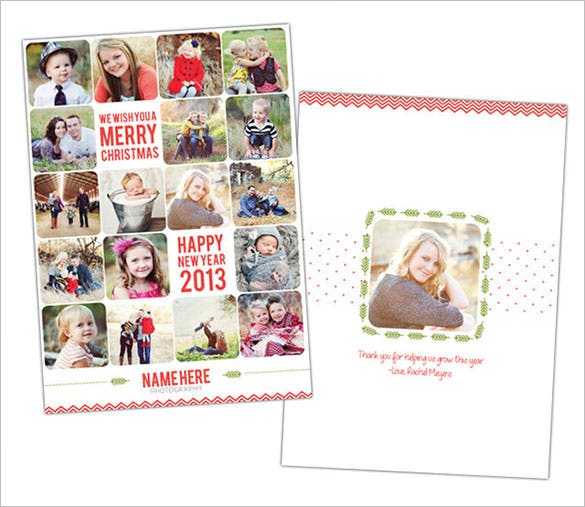 holiday thank you card newsletter template