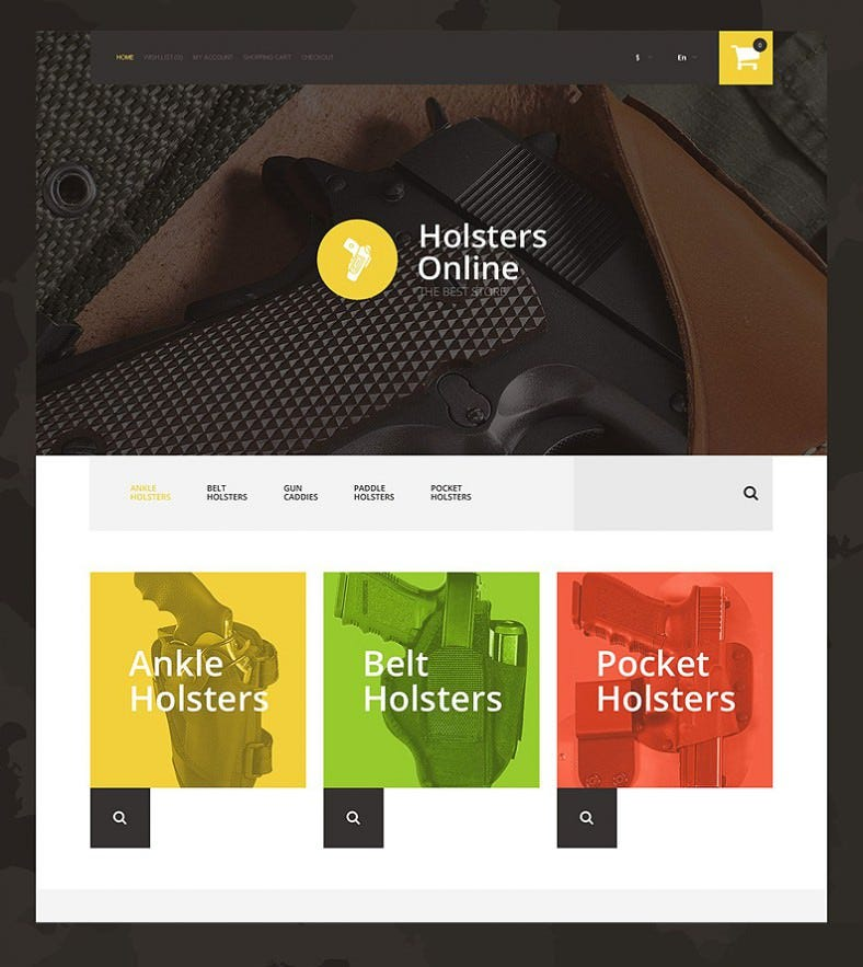 holsters online store opencart template 788x883