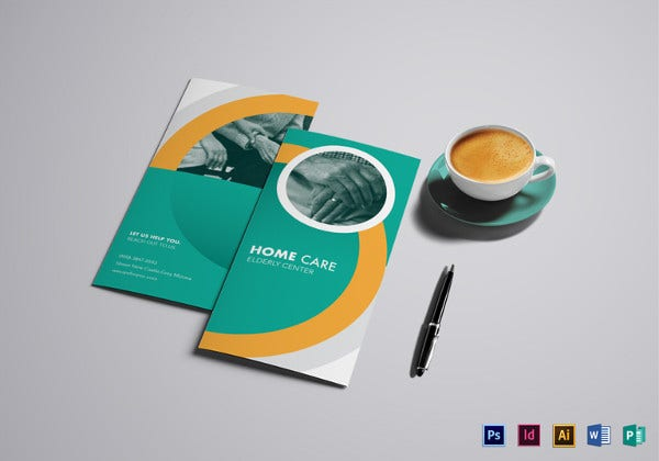 home care brochure template in illustrator