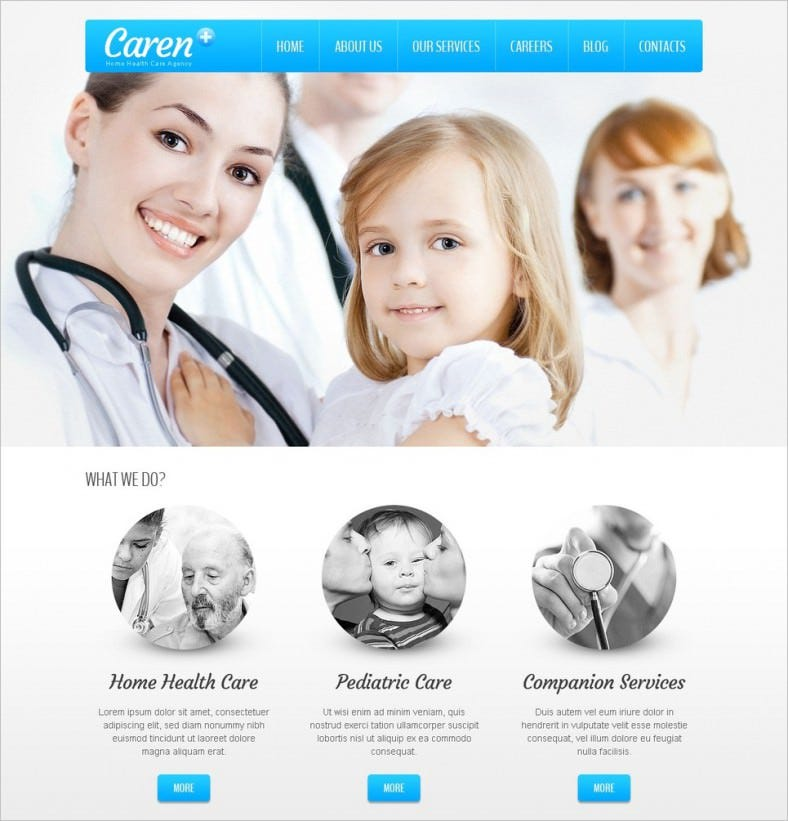 home health care agency wordpress template 788x821