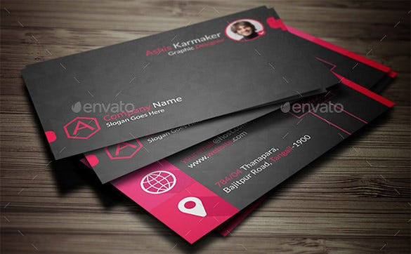 Name Card Template   Free Sample Example Format Download