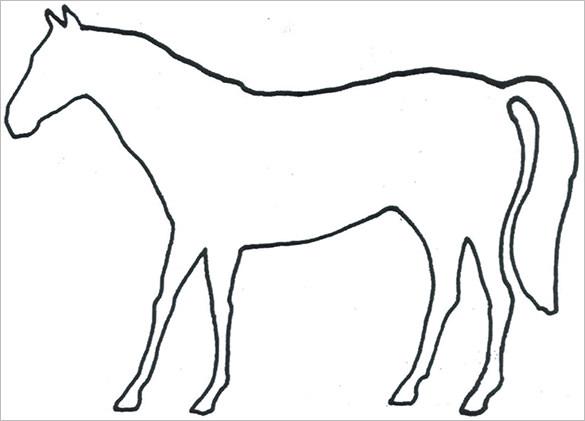 horse body outline template sample