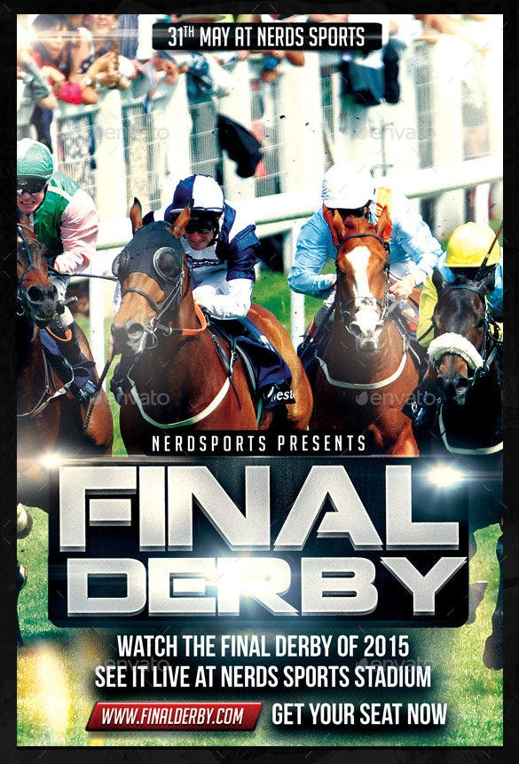 horse racing championship flyer template