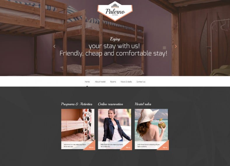 Hotels Business Responsive HTML5 Website Template