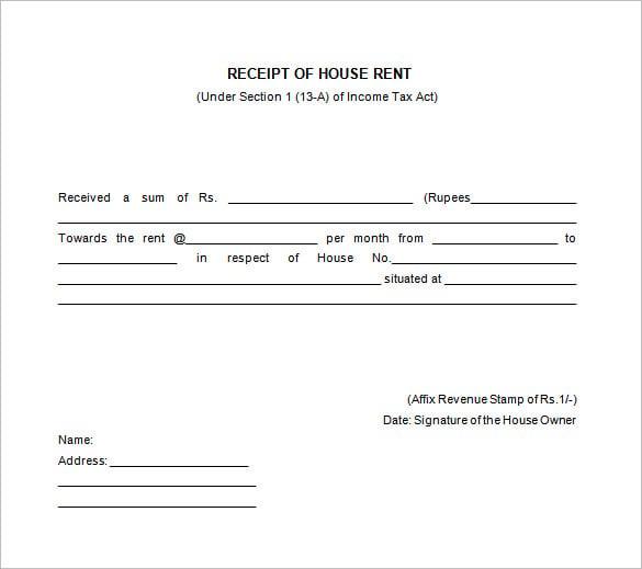 Rent Receipt Samples – Rent Receipt Doc