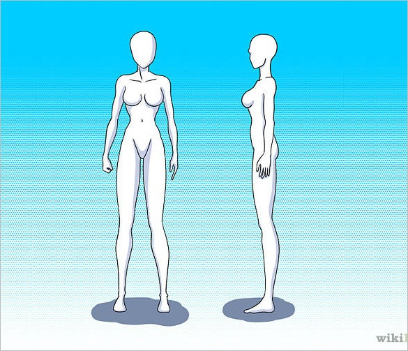 how to draw female body outline