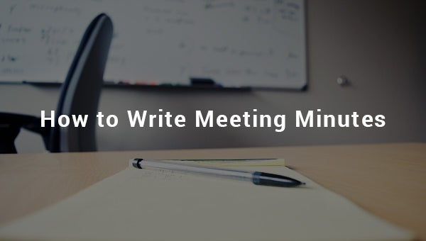 howtowritemeetingminutes
