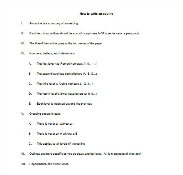 college credit autobiography example outline