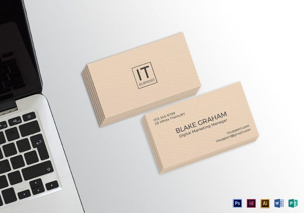 it support business card template
