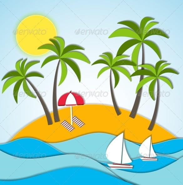 illustration of a summer vacation
