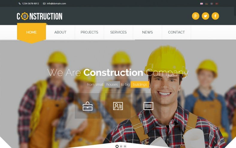Industrial HTML5 Template