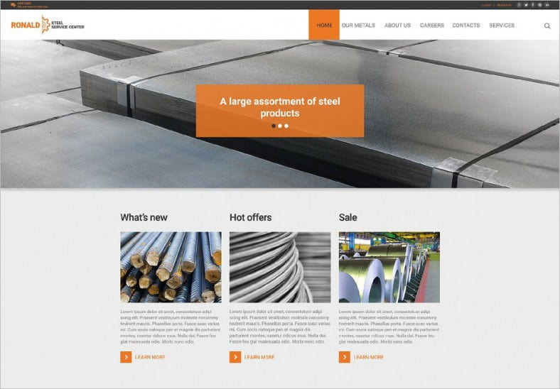 Industrial HTML5 Website Template