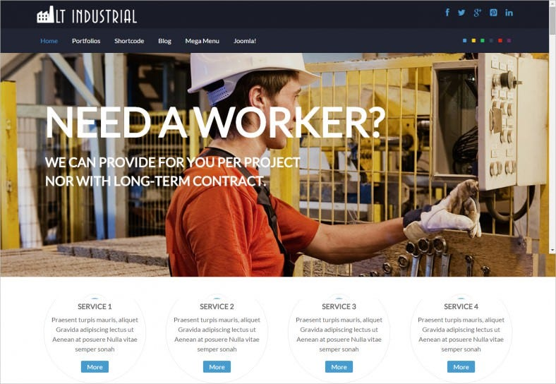 Industrial Joomla Website Template