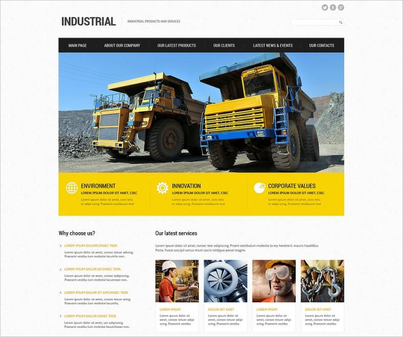 Industrial Responsive Joomla Templates