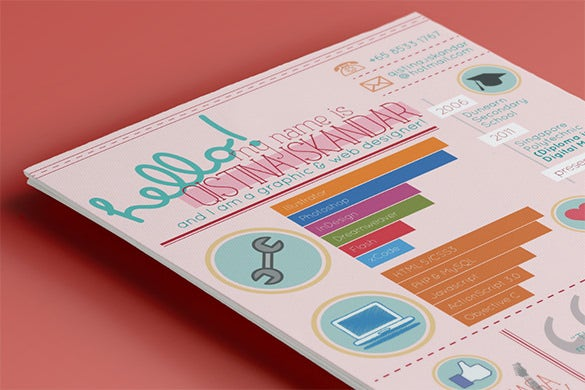 infographic curriculum vitae psd download