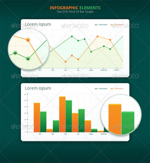 infographic psd bar graph download