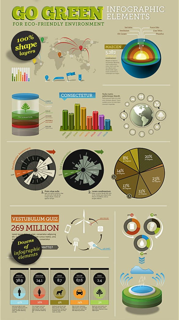 infographic psd elements free download