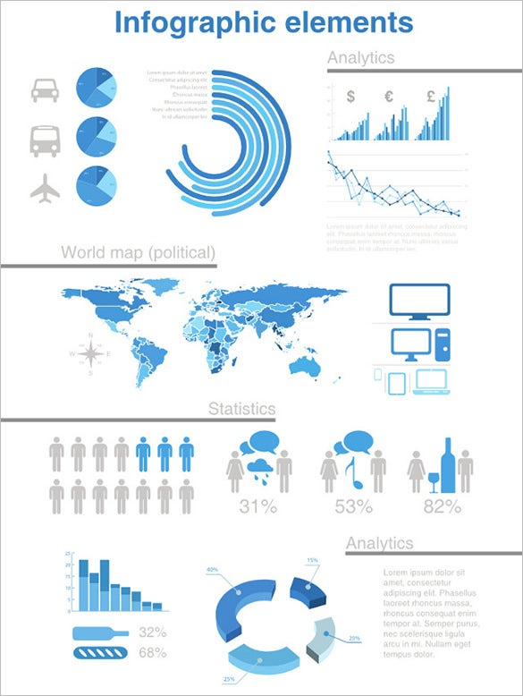 infographics elements design free download