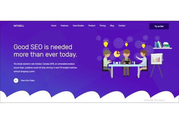 infosell marketing html5 template