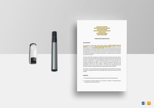 international-marketing-plan-template