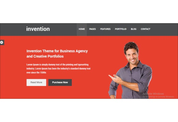 invention responsive html5 template